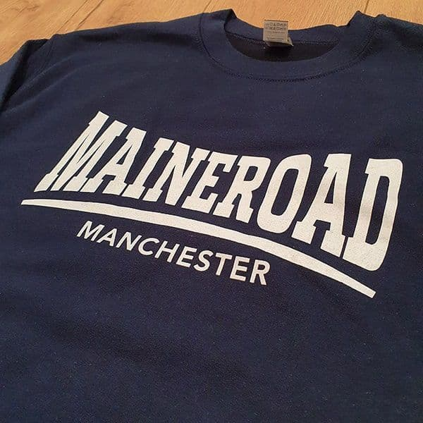 Maine Road  Manchester Sweatshirt | Manchester City Gifts & Memorabilia